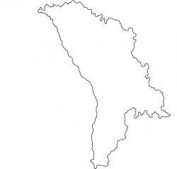 Moldova Map Outline