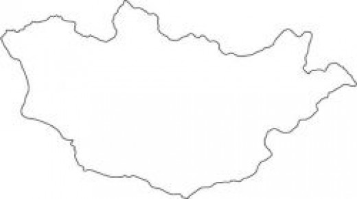 Mongolia Map Outline