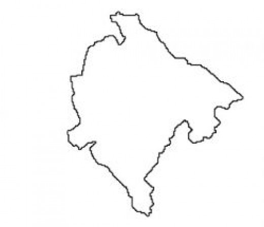 Montenegro Map Outline