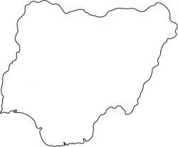 Nigeria Map Outline