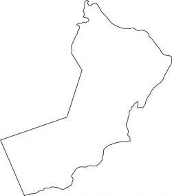 Oman Map Outline