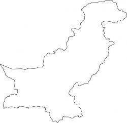 Pakistan Map Outline