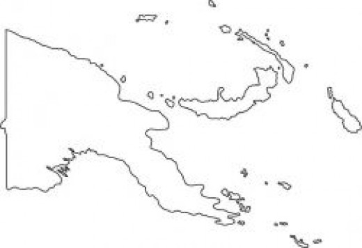 Papua New Guinea Map Outline