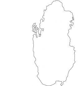Qatar Map Outline