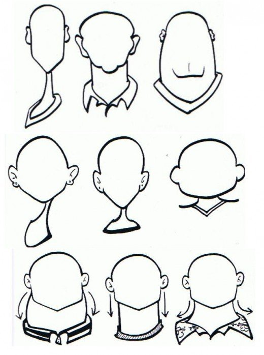 how to draw charicture head