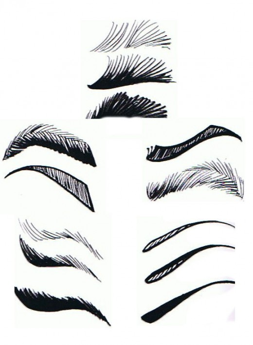 Goes indra sport januari 2011 for Drawing eyebrows on paper