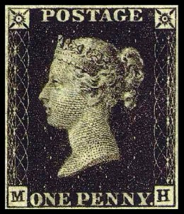 First postage stamp of the world.