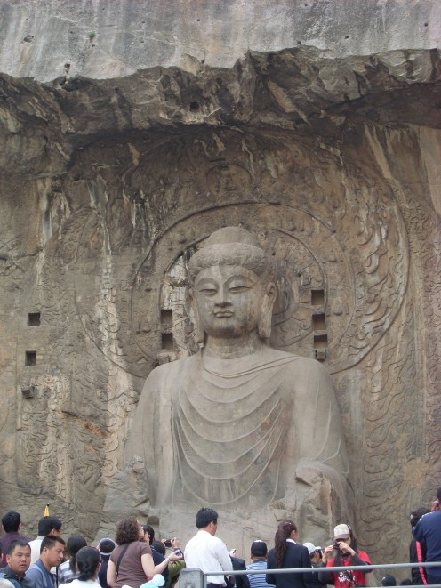 The rock carvings at Longmen Grottoes.