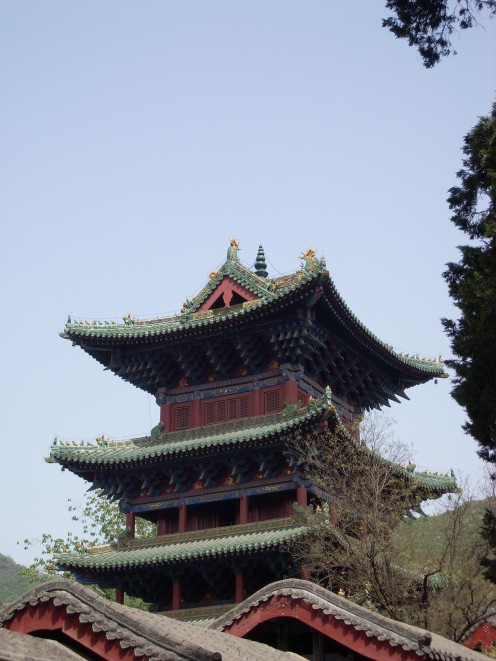 One of the big pagodas at the Shaolin Temple.