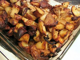 roasted potato with onion & garlic