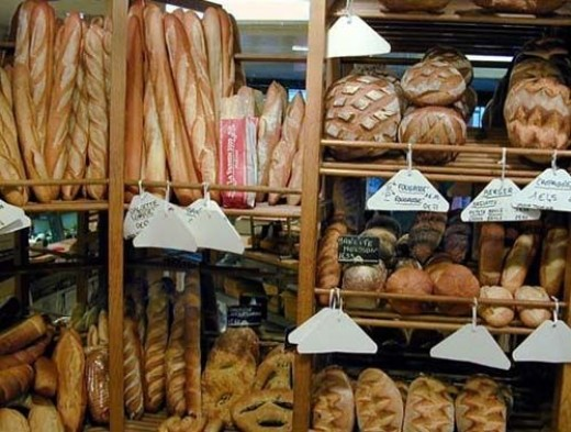 boulangerie with fresh bread