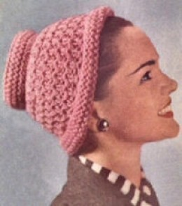hat pattern an easy to knit warm hat knit on two needles with double