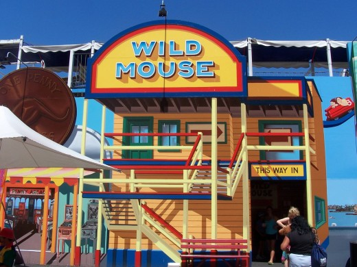 Wild Mouse was originally built on site in 1962. It takes you 15 metres above ground while hurling along a 400 metre track in a hair-raising 61 seconds!