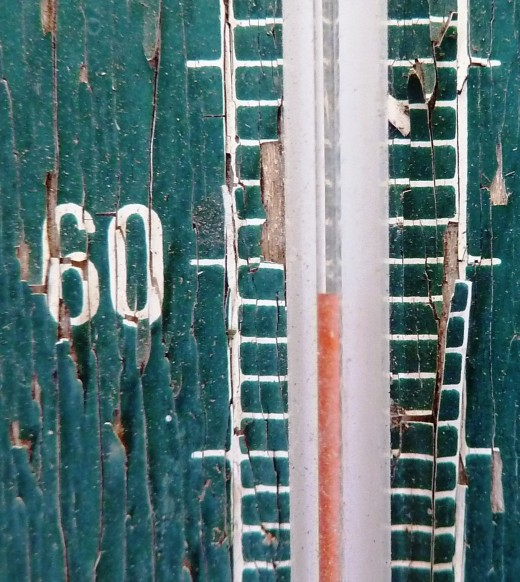 Thermometer of many summers.