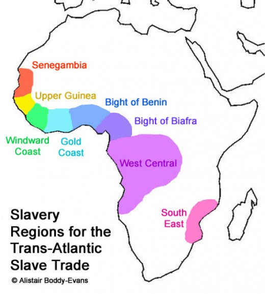 Origins of African Slaves