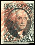 The other first US stamp dipicting George Washington