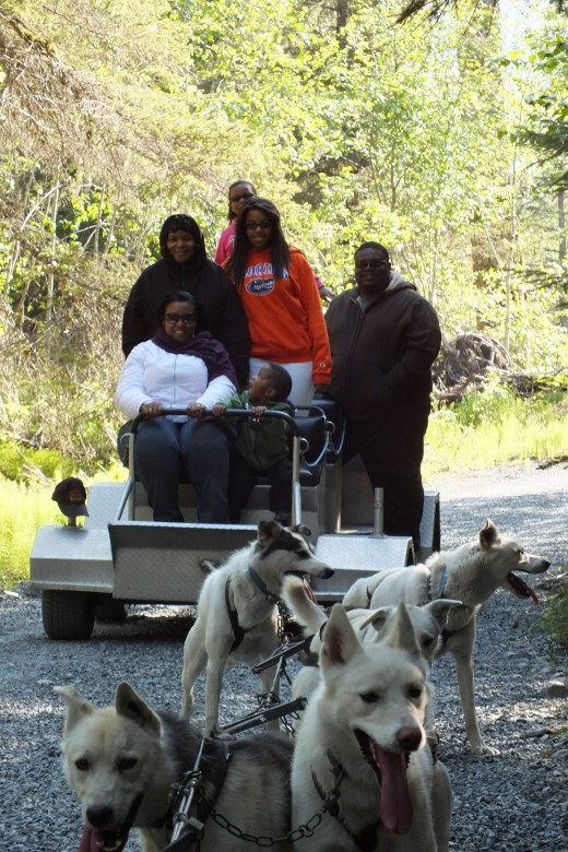 My family on the Dog Sled Tour