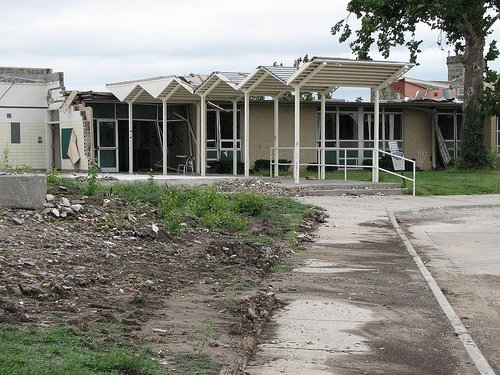 Tornado Damage at Chapman Middle School - photographed in September 2008 by Paul Franciskato.