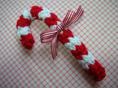 Candy Cane Christmas Ornament Crochet Pattern