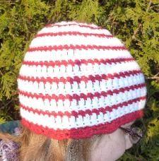 Candy Cane Hat FREE Crochet Pattern