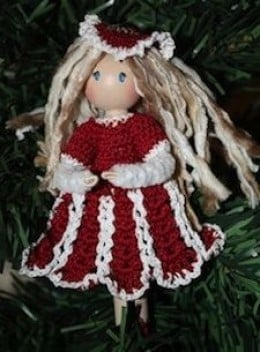 Peppermint Stick Clothespin Doll