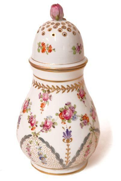 Hand Painted Paris Porcelain Sugar Shaker
