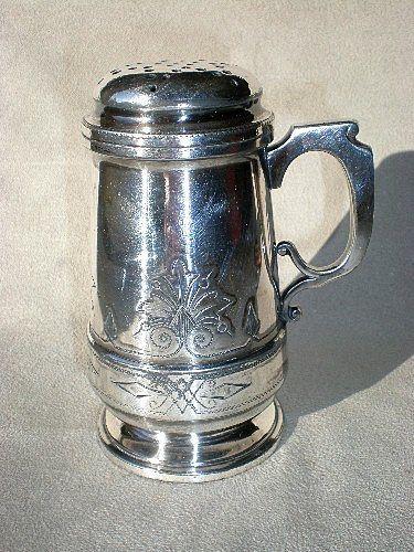 Victorian Meridan Silver Plate Sugar Shaker