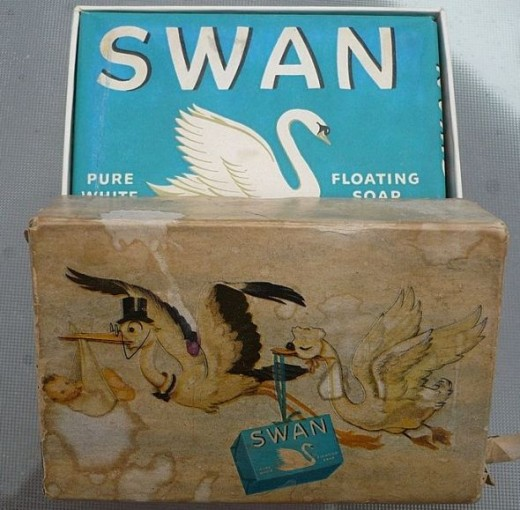 1945 Swan Soap for Baby