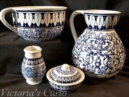 English ironstone chamber set. Brown-Westhead Moore & Co.