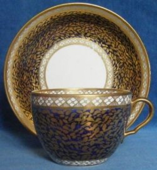 Spode Bute Shape Cup and Saucer Pattern 908