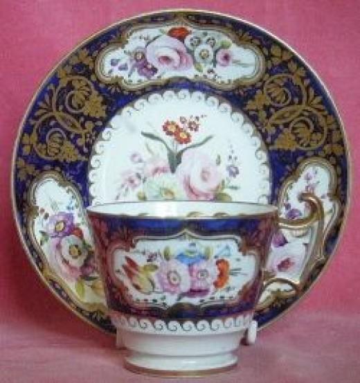 John Rose Coalport London Shape Cup and Saucer c.1820
