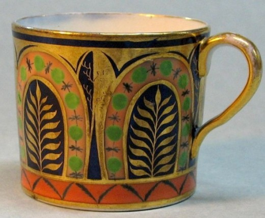 English Porcelain Coffee Can ca. 1810