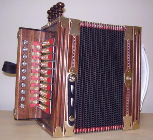 "State Musical Instrument: Diatonic ""Cajun"" Accordion (Photo by Michael Miceli, Wikipedia)"