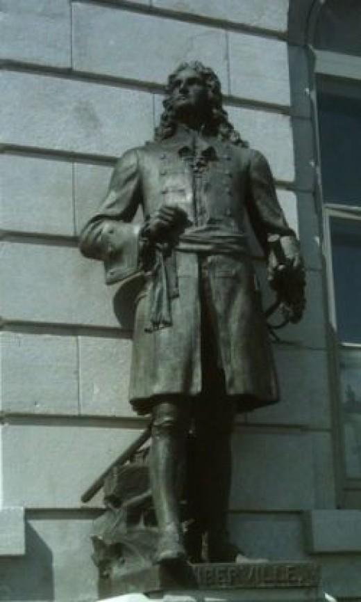 Sculpture of Pierre Le Moyne d'Iberville