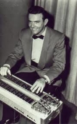 Ernie Ball playing his steel guitar
