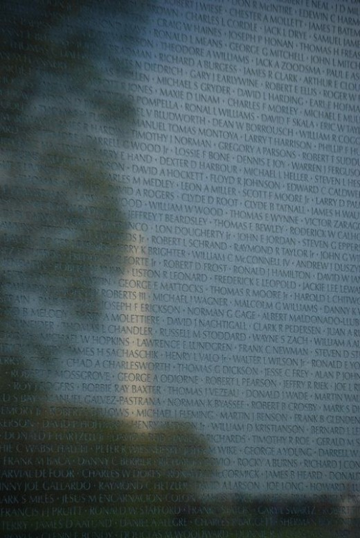 Washington Monument reflected in Vietnam Memorial