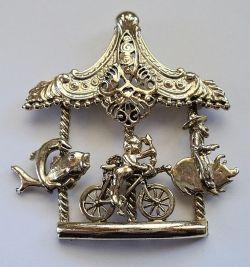 Whimsical Vintage Carousel Pin Fun