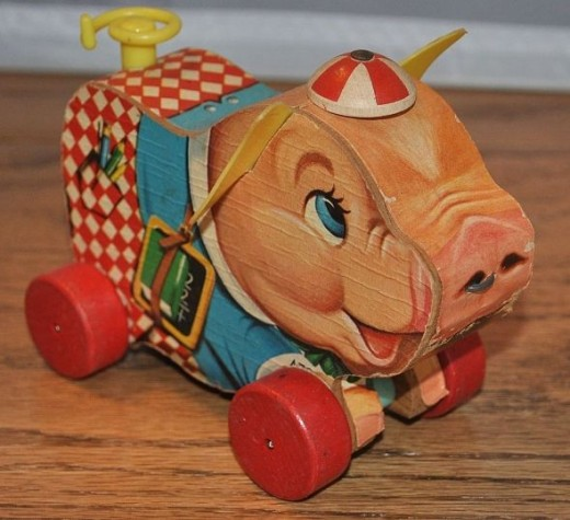Vintage Fisher Price - Peter Pig