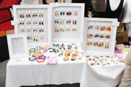 Use colours to display your market stall goods