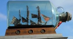 Ship in a bottle, Trafalgar Square, London