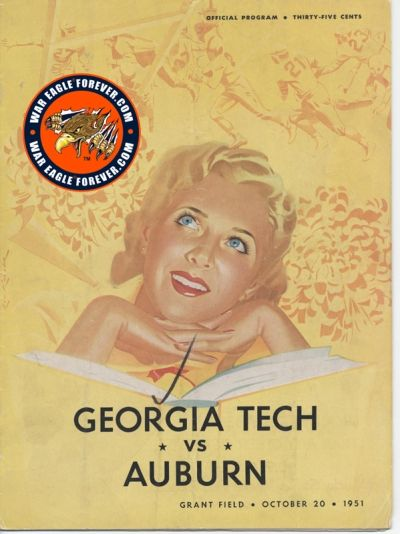 1951 Auburn-Georgia Tech Football Program