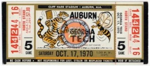 Auburn vs. Georgia Tech: Online Memorabilia Ark