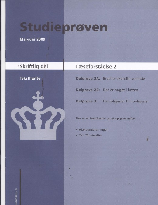 The Danish Exam 'Studieprøven'