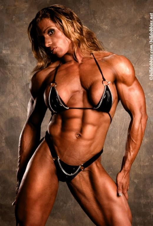Hot female bodybuilder