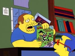 Not all comic shop employees are like the guy from The Simpsons!