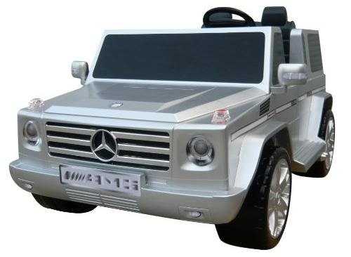 kids car silver mercedes benz g class