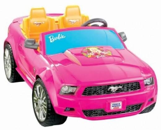 Kids Car Barbie Ford Mustang