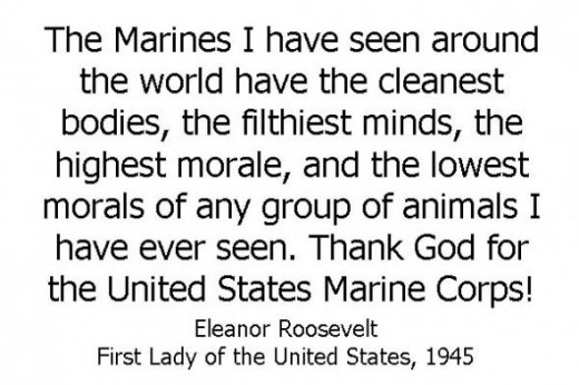 Eleanor Roosevelt Quotes Marines Beauteous Top Ten Quotes About The Us Marine Corps  Hubpages