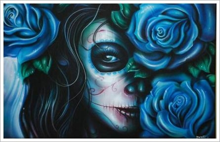 This blue rose skull girl design would make a pretty good tattoo.  Source: http://media.beta.photobucket.com/user/Rose_Bloodlust/media/scythe_girl.png.html