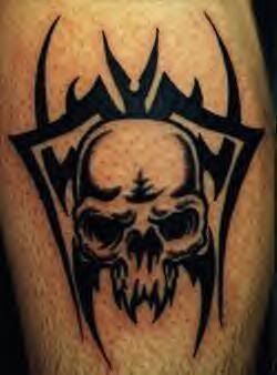 cool tribal skull tattoo design